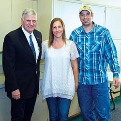 Aaron and Melissa Klein with Franklin Graham