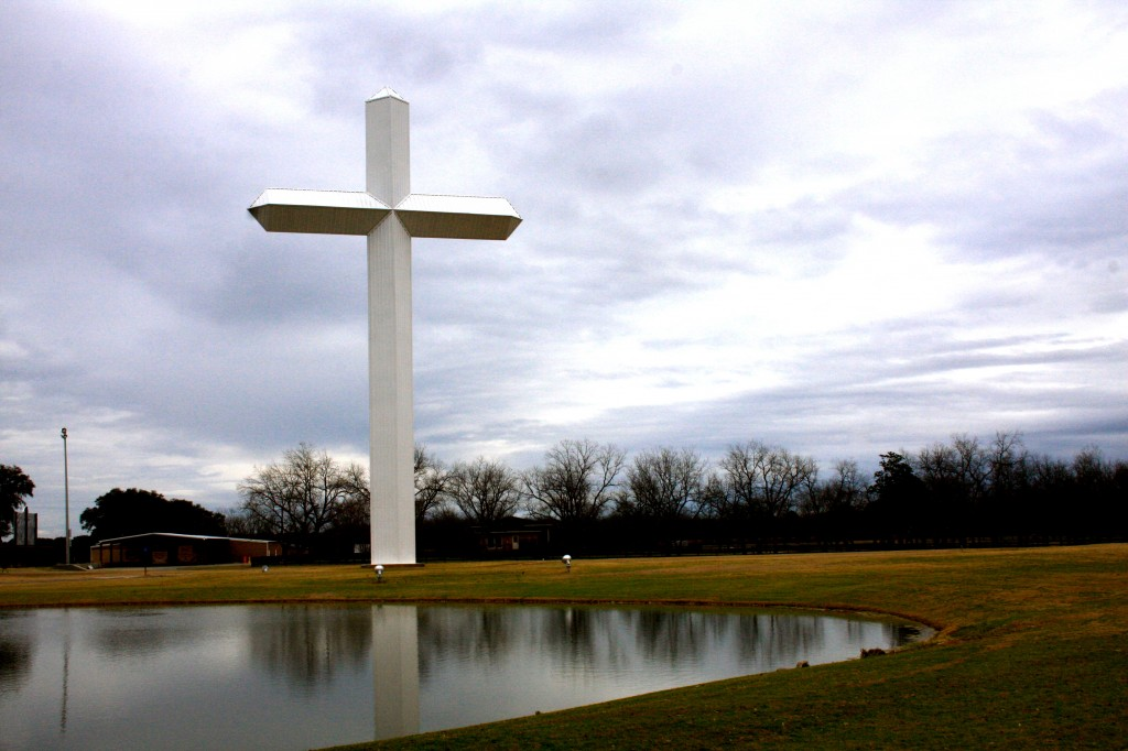 Large cross, part of Sherwood's Legacy Park