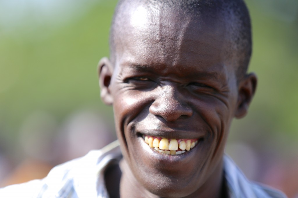 Kenyan man smiling