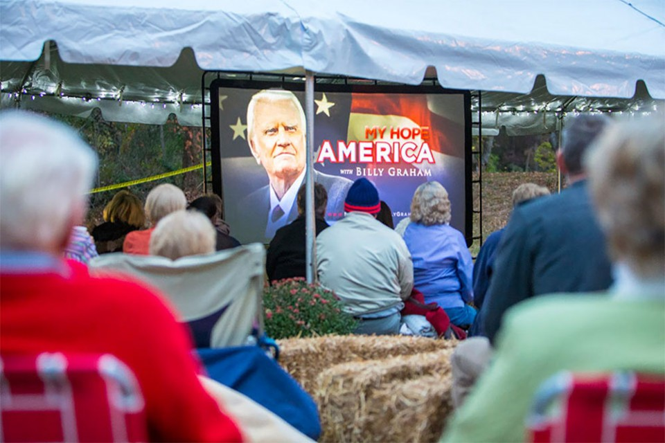 Charlotte, N.C., couple Richard and Deborah Rosser hosted a My Hope gathering outside in a tent, reminiscent of Billy Graham's early years of preaching. An 8-year-old boy prayed to receive Christ, and an older man rededicated his life to Jesus.