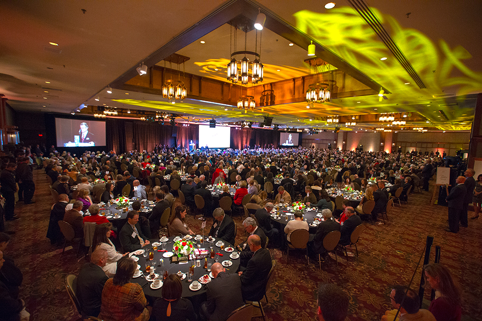 More than 800 guests gathered for Billy Graham's 95th birthday celebration at the Grove Park Inn in Asheville, N.C.