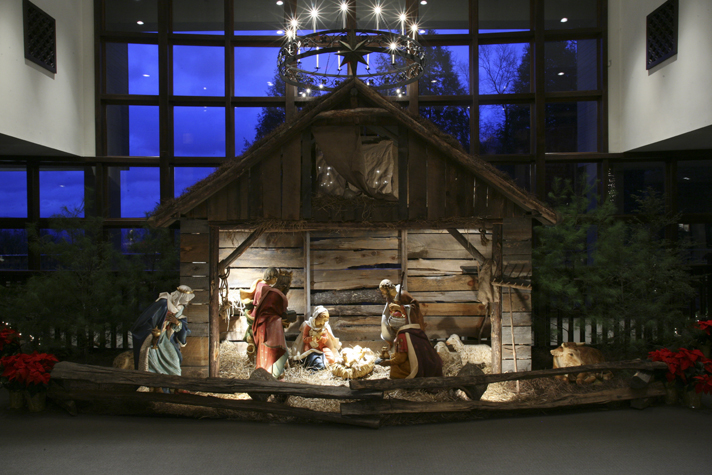 Nativity scene at The Cove