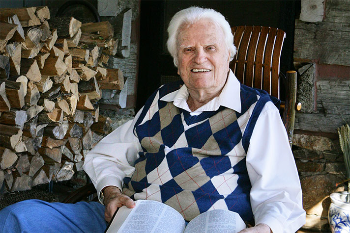 Billy Graham at his home in Montreat, N.C.