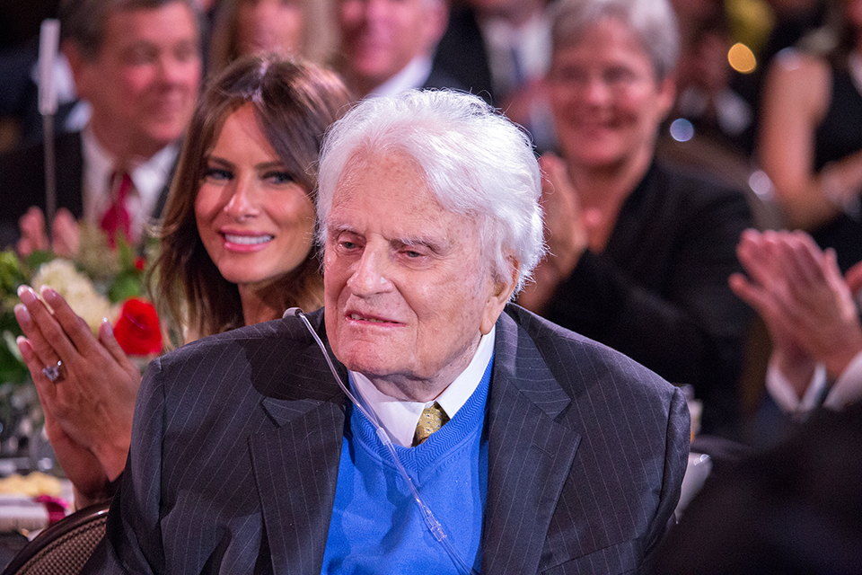 Hundreds of guests honored Billy Graham.