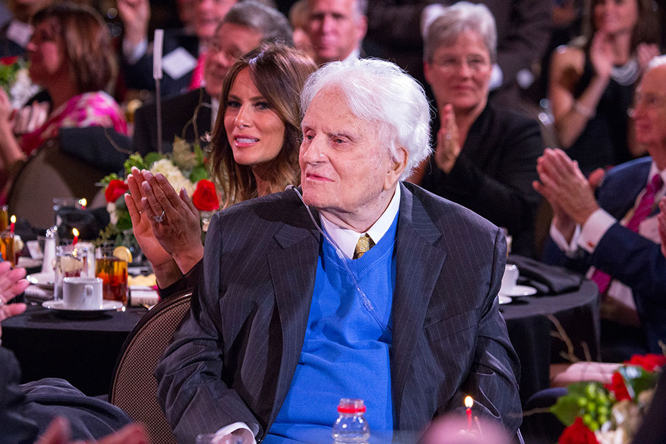 "Billy Graham thanked birthday guests and longtime friends and supporters at his birthday party, where his message, ""The Cross"" was shown. The video features the powerful testimonies of rapper Lecrae and singer Lacey Sturm, who both attended the birthday party in Asheville."