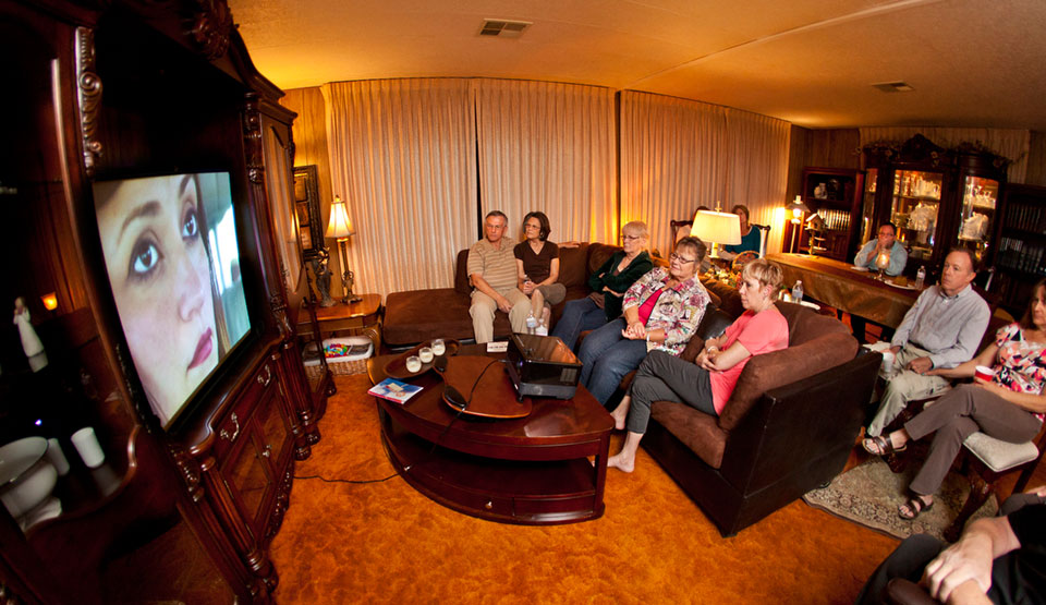 "Darilyn Dierickx hosted 10 friends and family members Friday night for a meal and viewing of ""The Cross"" at her Hemet, Calif., home."