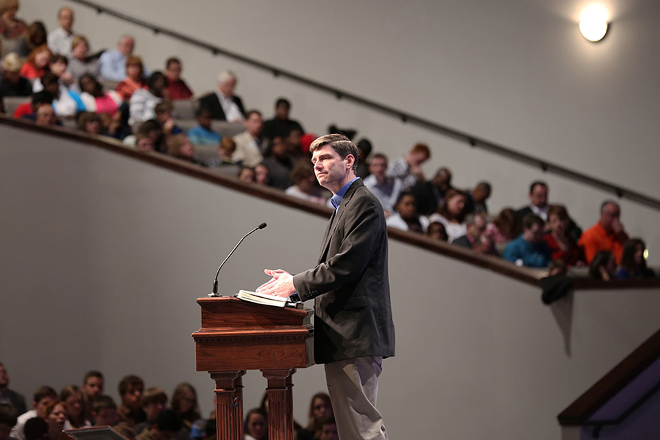 "Will Graham, vice president of the BGEA and grandson of Billy Graham, preached at Sherwood Baptist Church in Albany, Ga., wrapping up a weekend of My Hope events. Known for its faith-based movies, Sherwood was one of the biggest supporters of My Hope, spending a good chunk of the year training members to be ""Matthew"" hosts and share their faith through relationship evangelism. The church saw 76 salvations as a result."