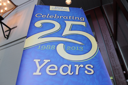 25th anniversary banner