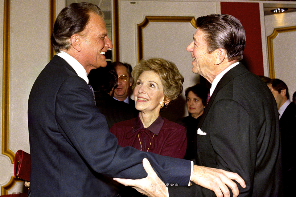 Billy Graham with Reagans