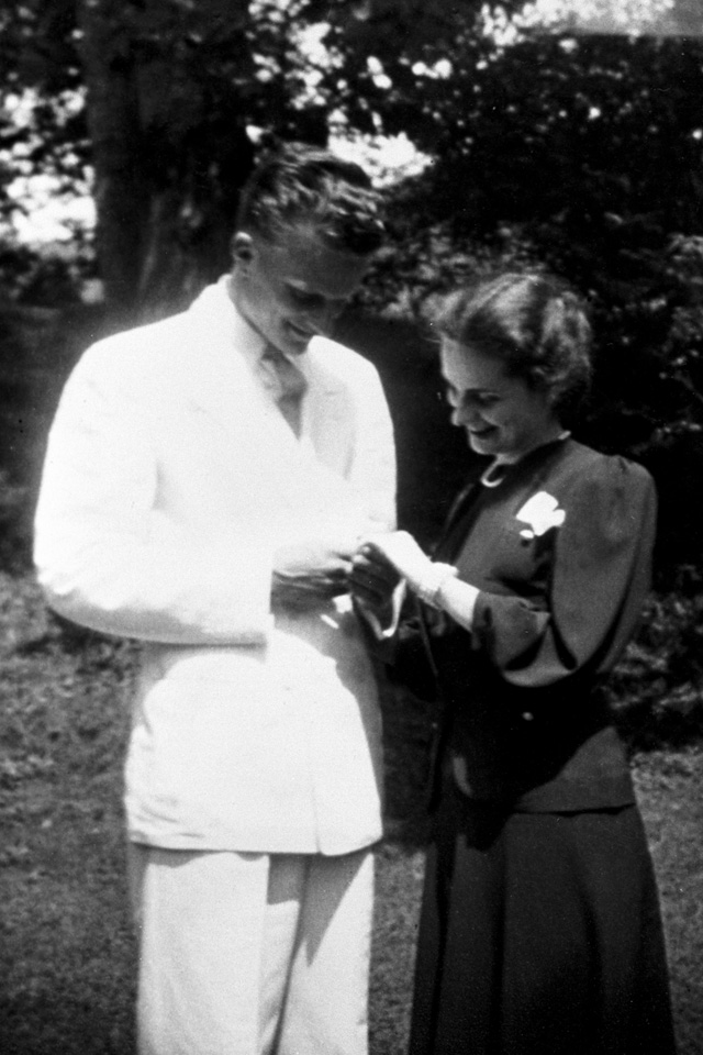 Billy and Ruth Graham engagement
