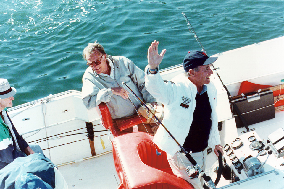 Billy fishing with George HW Bush