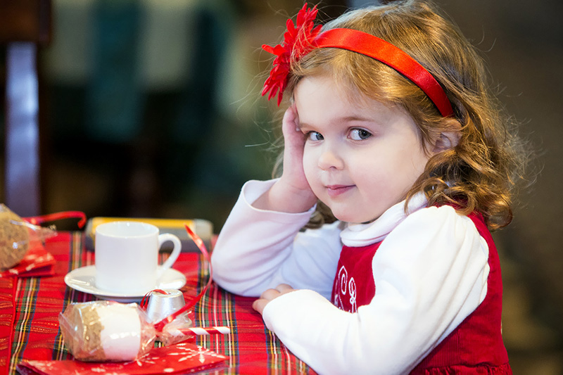 Little girl at table