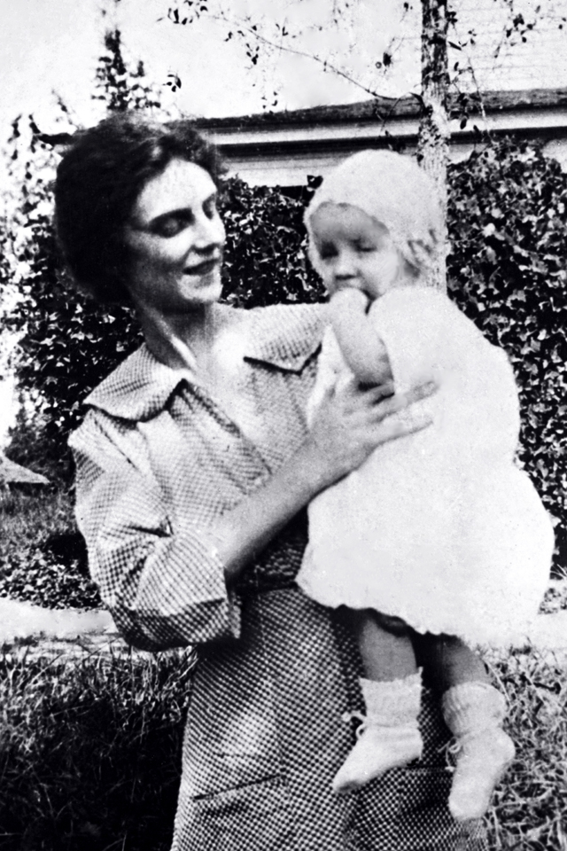 Infant Billy Graham with mother