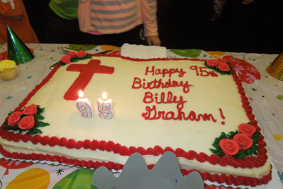billy graham birthday cake