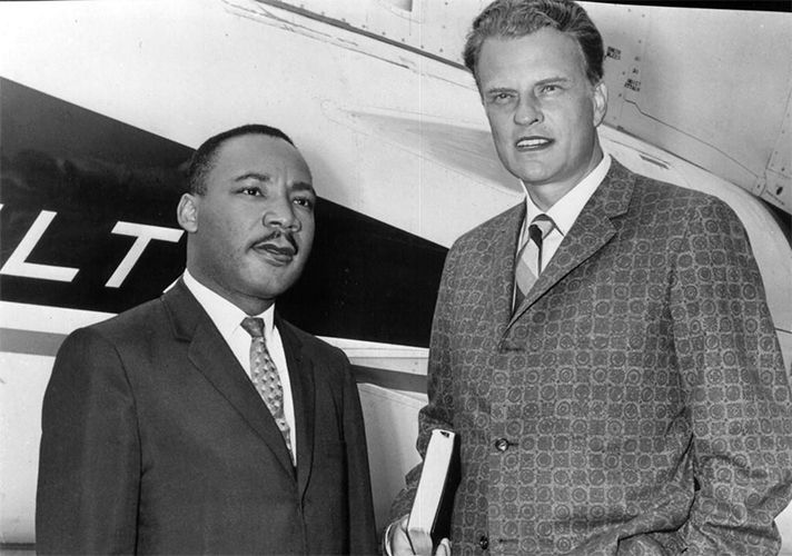mlk jr. and billy graham