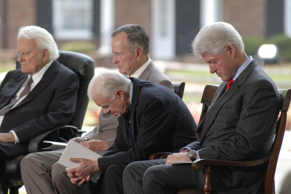 praying presidents library dedication