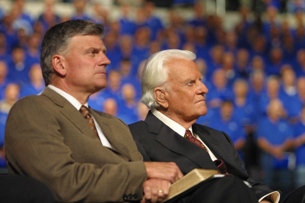 Resultado de imagem para franklin graham and billy graham