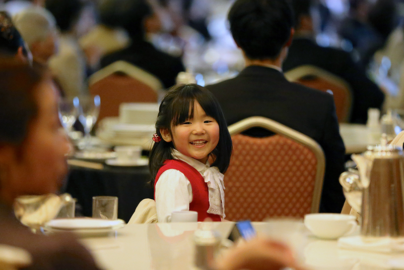 Japanese girl smiling