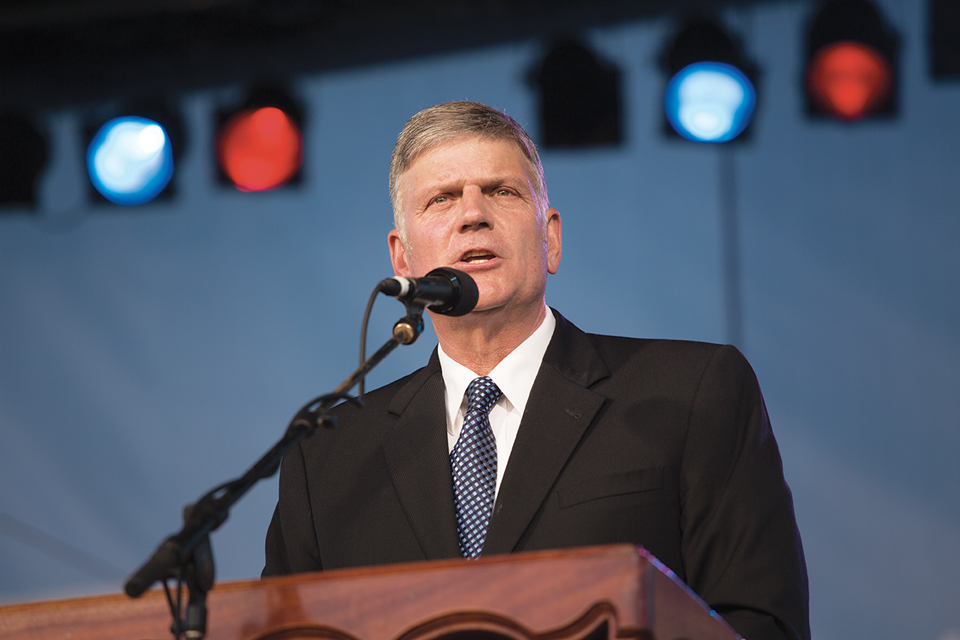 Franklin Graham Podium