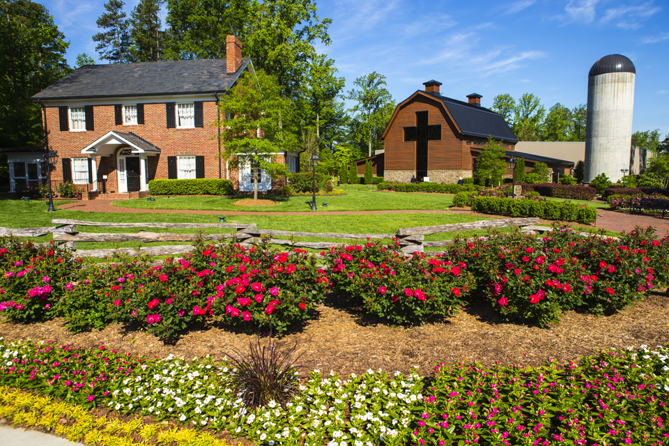Billy Graham Library grounds with house