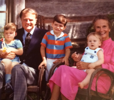 Billy Graham with his grandsons