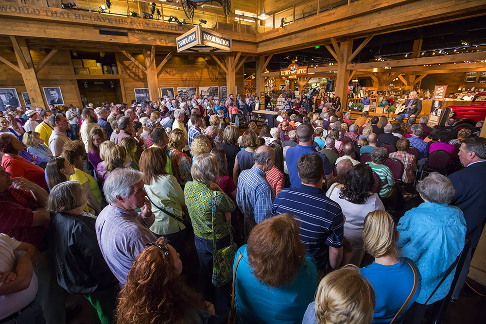 Ricky Skaggs Library crowd