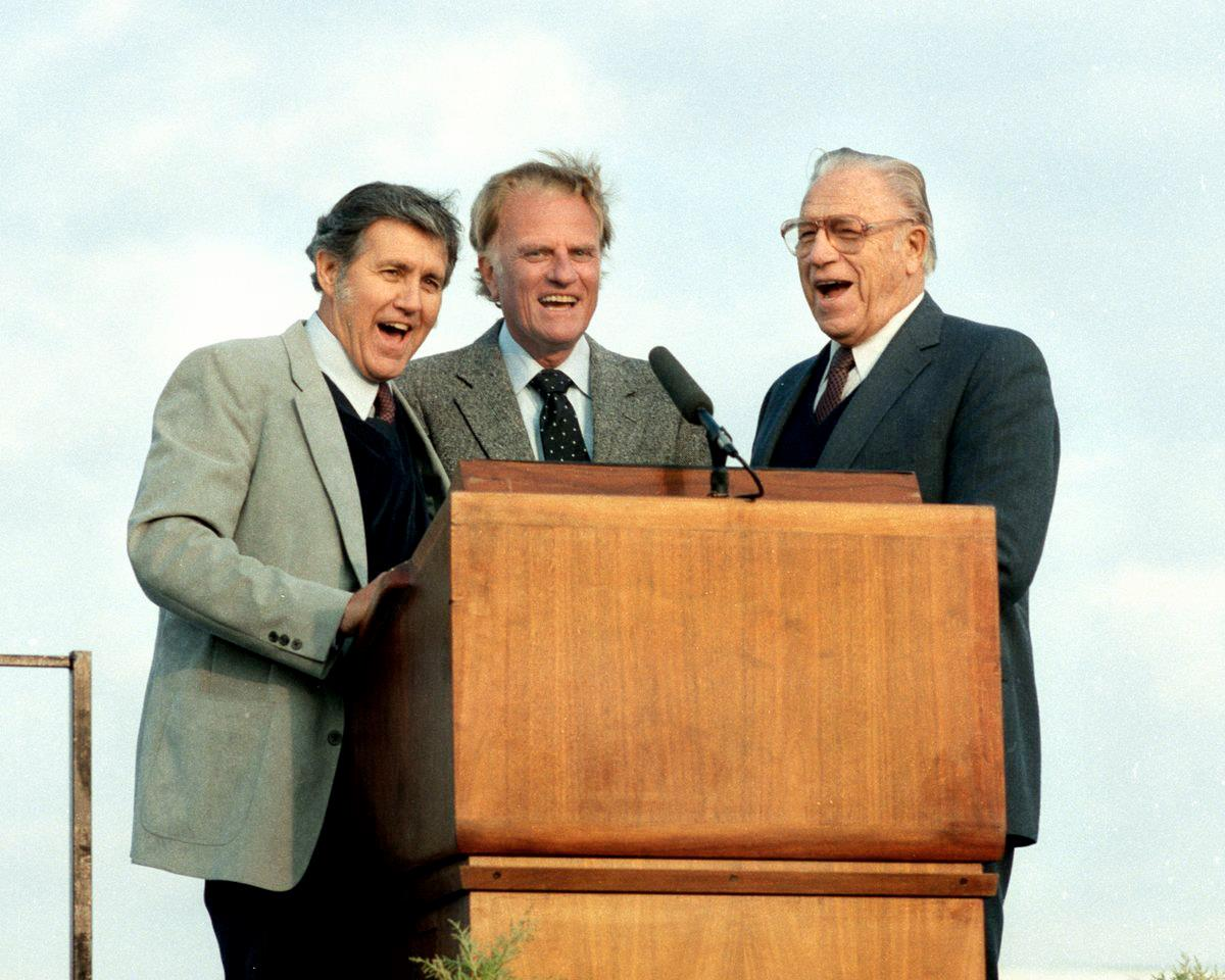 Cliff Barrows, Billy Graham & George Beverly Shea