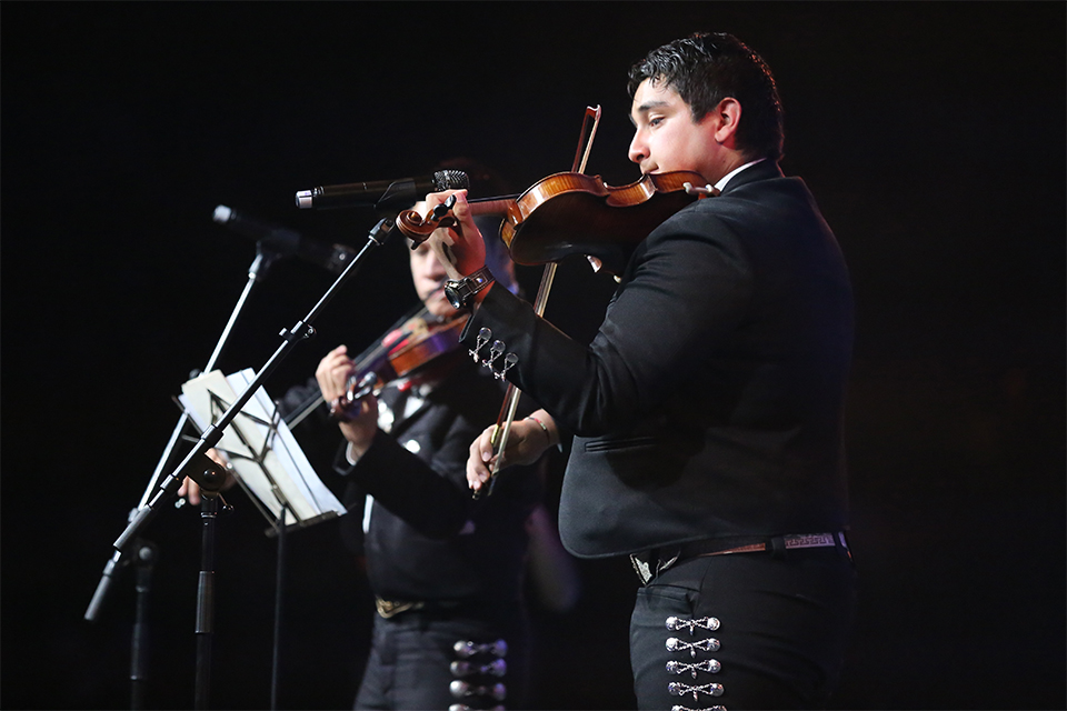 Mariachi Isai, a band based in El Paso, had a unique Spanish sound, including violins and a harp.
