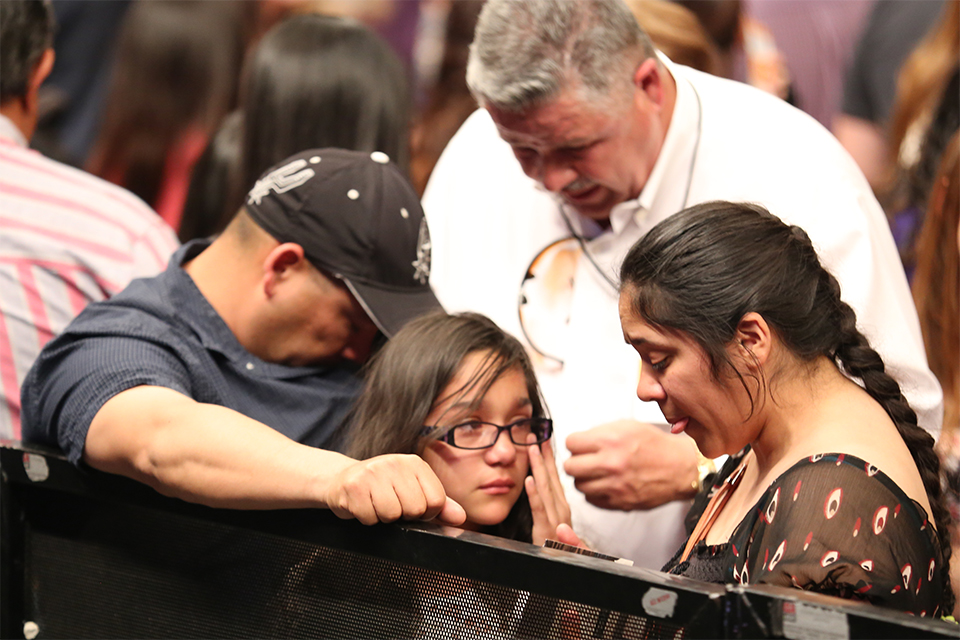 The moment of truth for one family brings them to tears in El Paso.
