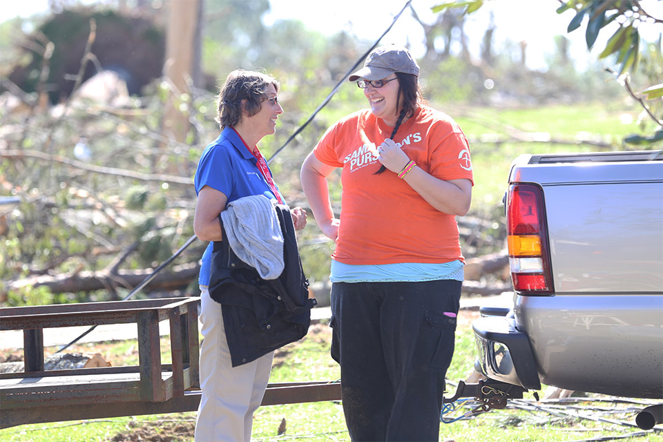 The Rapid Response Team and Samaritan's Purse work hand-in-hand during deployments to meet the homeowners' physical, emotional and spiritual needs.