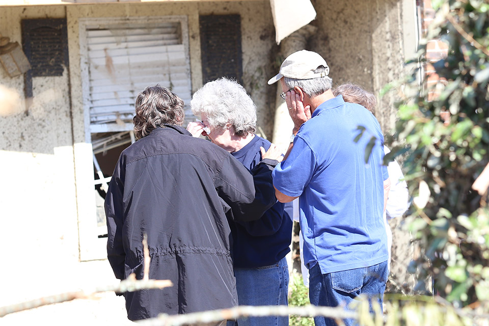 This homeowner had a hard time sharing her story, but wanted prayer and a shoulder to cry on.