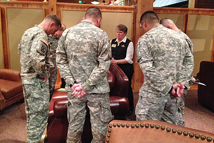 chaplains praying