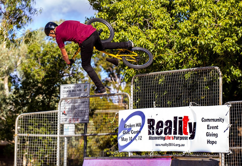 The Reality Tour included a bike event that attracted many youth.