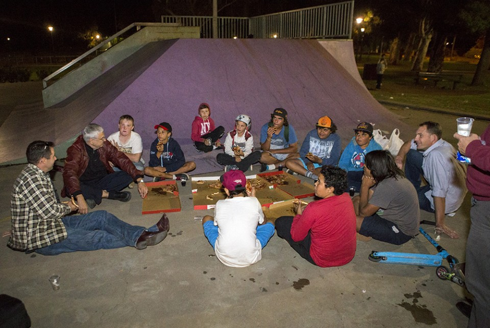 Reaching out to skateboarders, some of whom came to the Reality 2014 event.