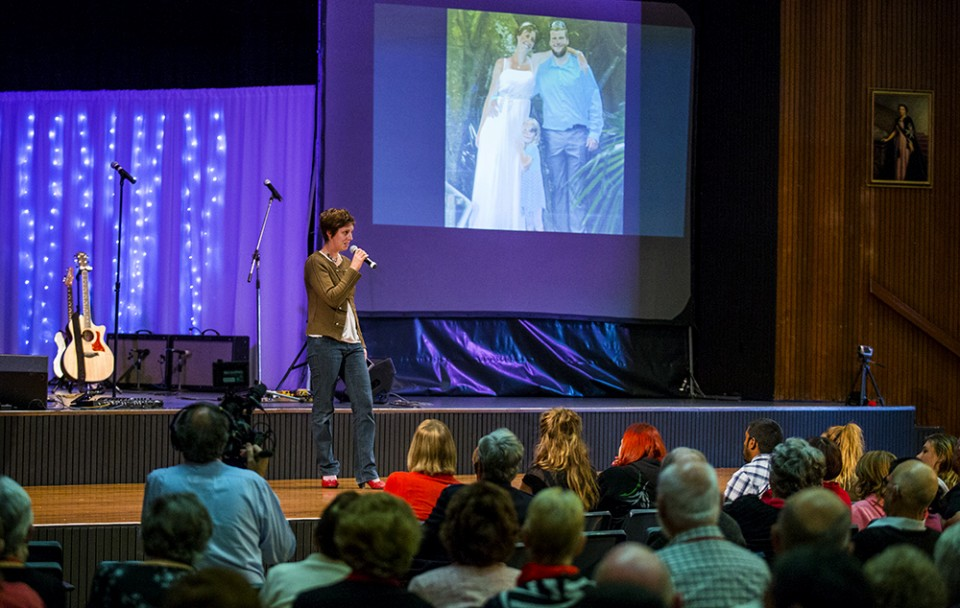 Catherine Sharpe shares her testimony at the Will Graham Reality 2014 event in Broken Hill, Australia, sharing how God turned her life around and restored her marriage.