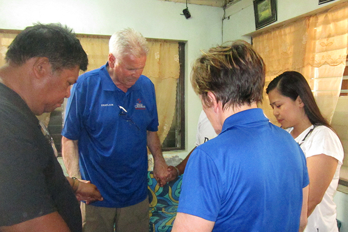 Barb and Leo Grabowski have prayed with 20 pastors who have requested spiritual and emotional care from the Rapid Response Team, following the deadly Typhoon Yolanda.