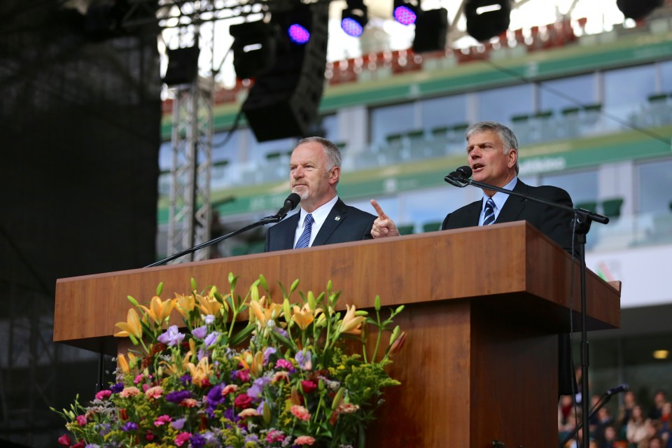 Franklin Graham in Warsaw, Poland