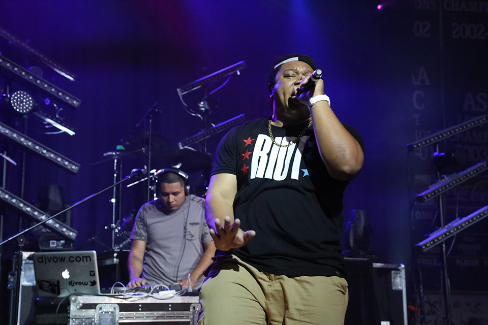 Tedashii performed during the Will Graham Central Mississippi Celebration in March 2014.