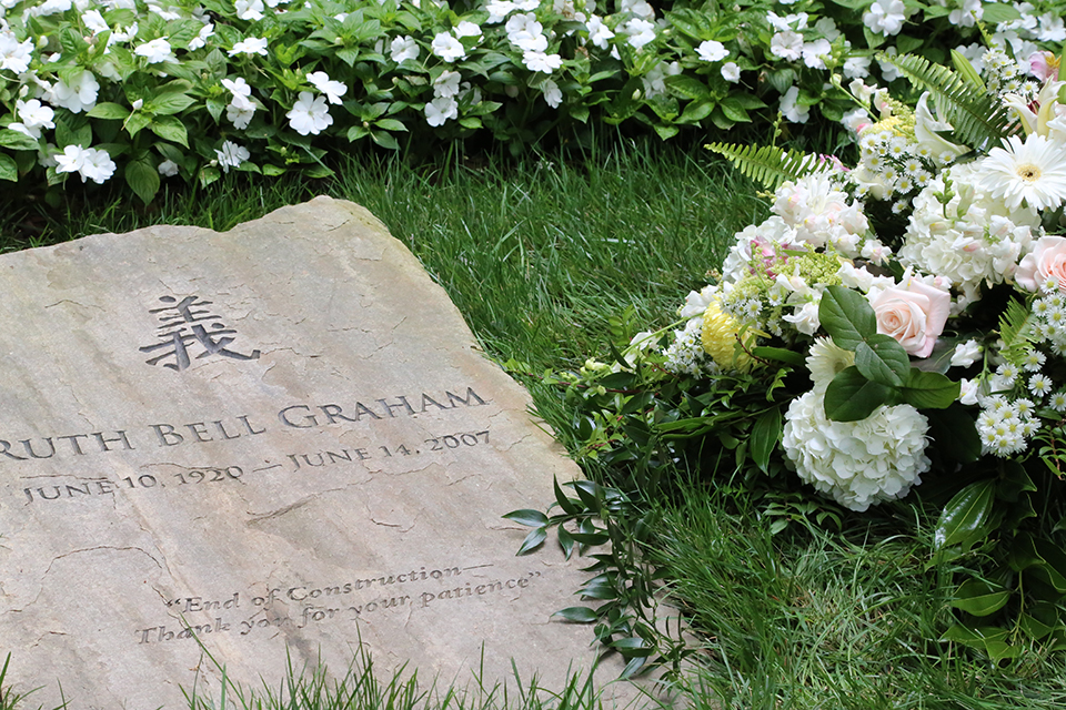 As the Billy Graham Library celebrated its seventh anniversary, fresh flowers lay at the grave of Ruth Bell Graham to remember when she entered this world, and when she left it.