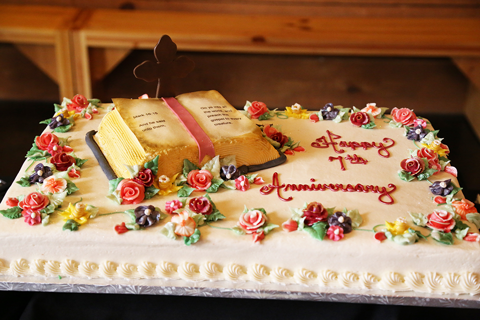 Guests were greeted by our volunteers and this beautiful, delicious cake.