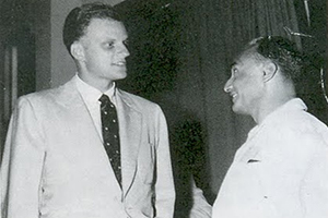 Billy Graham meets with Bakht Singh in the 1950's.