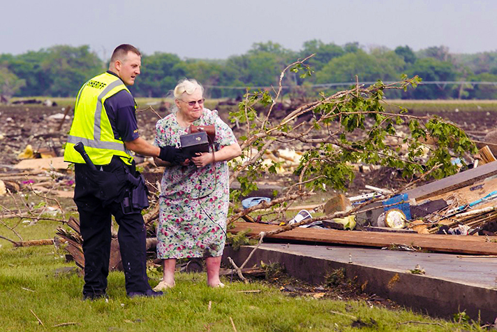 "The small farming town of Pilger, which locals call ""the little town too tough to die,"" was severely damaged by twin tornadoes on Monday. Please pray for this Nebraska town."