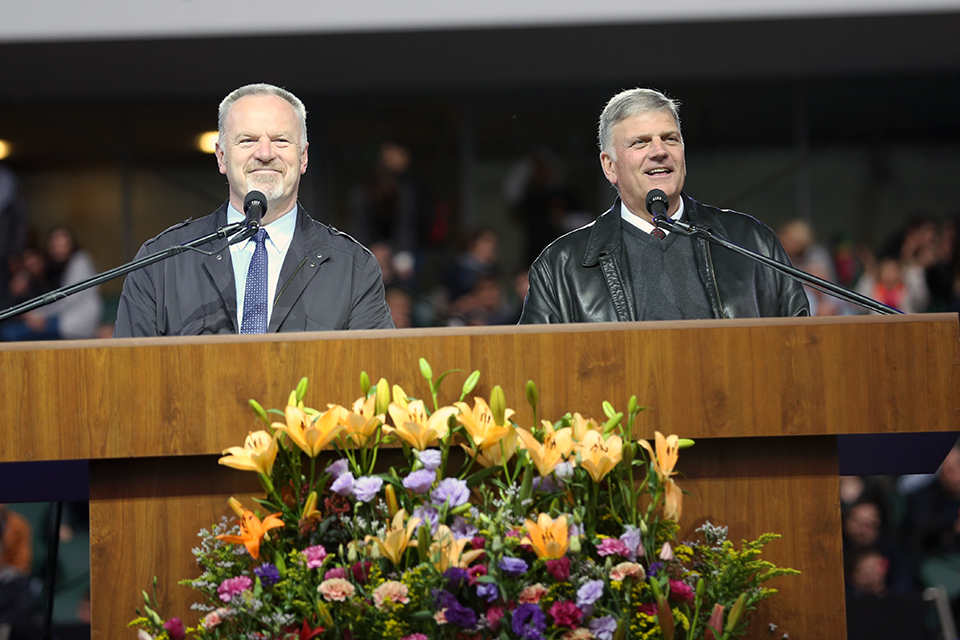 Franklin Graham and interpreter