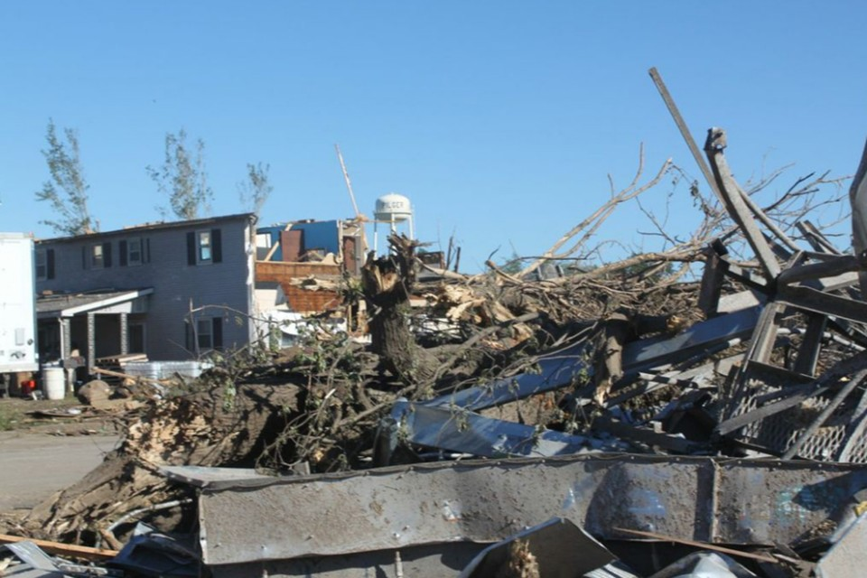 Pilger was devastated by twin tornadoes on June 16.