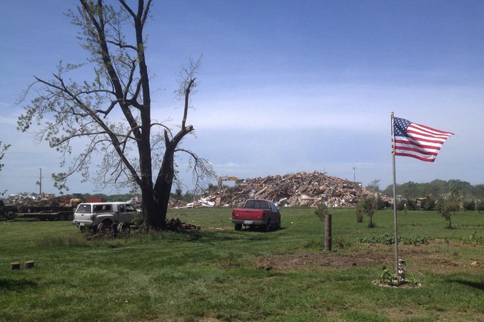 Two people were killed and 16 severely injured when two tornadoes hit Pilger, Neb.