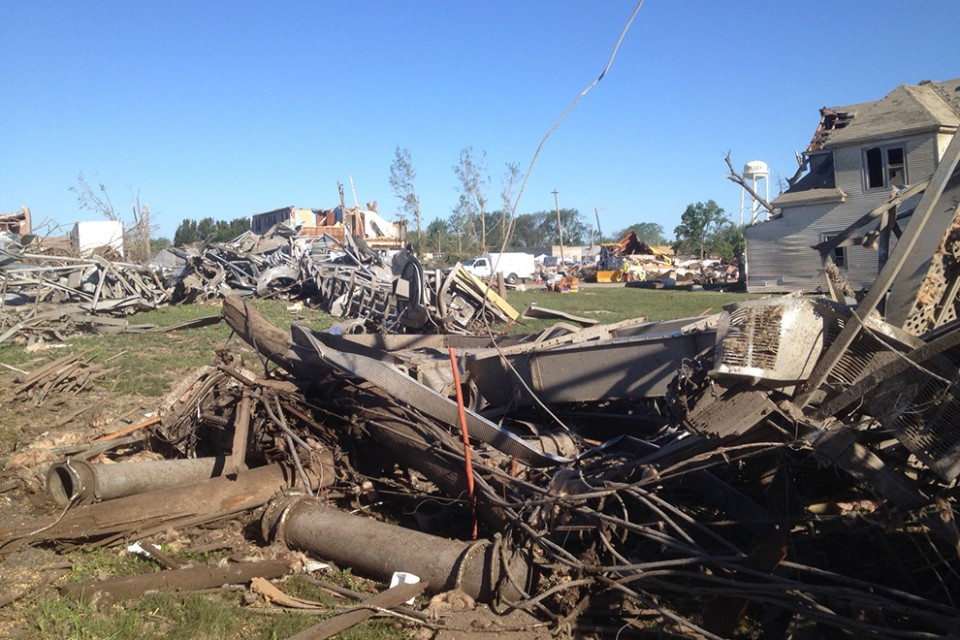 Most of the business in Pilger, Neb., were completely destroyed.