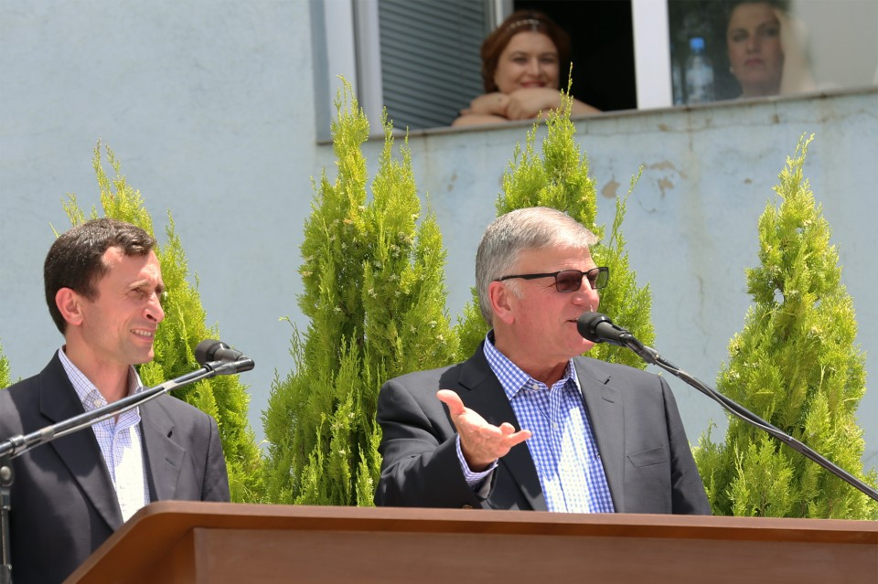 "Franklin Graham preached on Nicodemus and called for Georgians to put away your religion and come to Christ on the final day of the Festival of Hope (Imedis Festival) in Tbilisi, Georgia. ""If you don't remember anything else, remember that God loves you."""