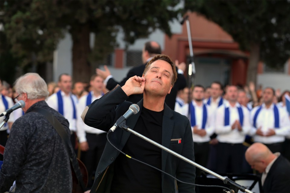 The sweet melody of the Georgia Festival choir singing Agnus Dei in Georgian was music to Michael W. Smith's ears.