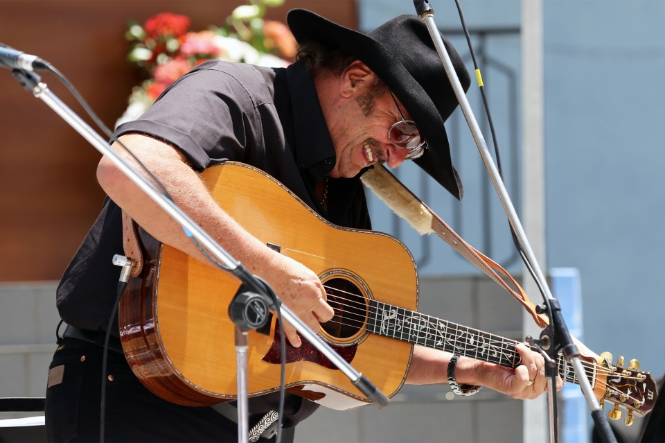 "Dennis Agajanian, aka the ""Armenian Cowboy"" got the blood moving early with a rendition of ""Nothing but the Blood."""