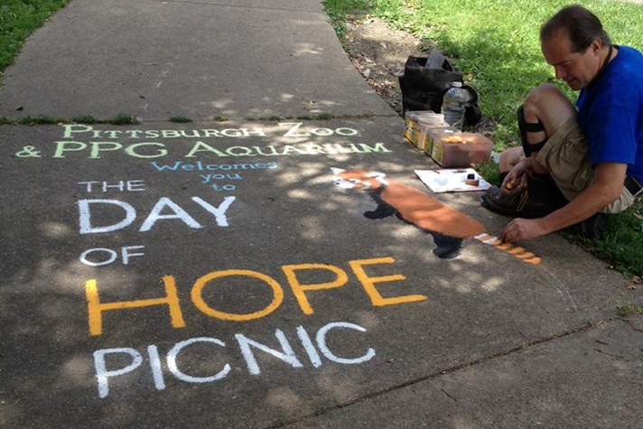 Day of Hope sidewalk